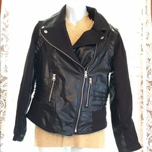 EUC Ladies Fitted Rampage Faux-leather Jacket Sz S